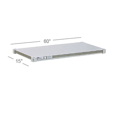 New Age 1560SB Aluminum Solid Shelf - 15x60""