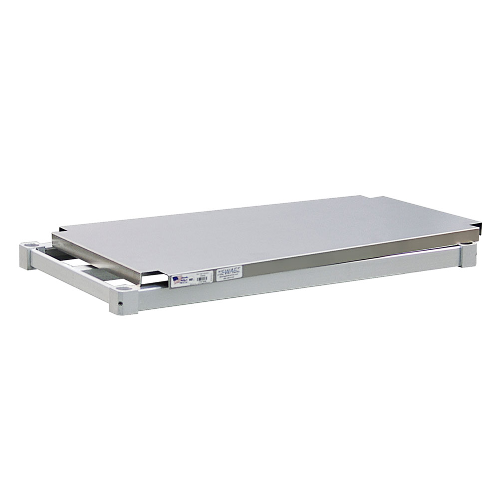 "New Age 1830SB Aluminum Solid Shelf - 18x30"""
