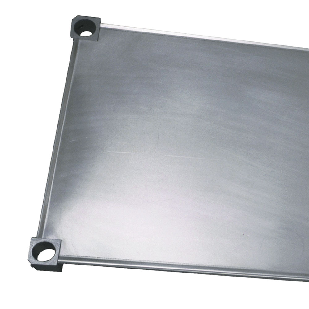 "New Age 1842S Aluminum Solid Shelf - 18x42"""