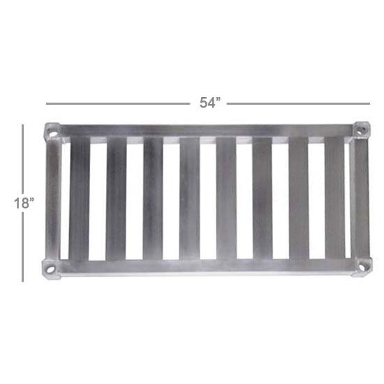 "New Age 1854TB Aluminum T-Bar Shelf - 18x54"""