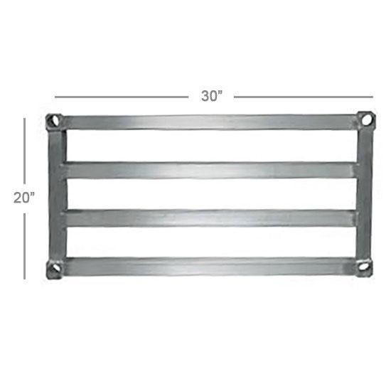 "New Age 2030HD Aluminum Tubular Shelf - 20x30"""