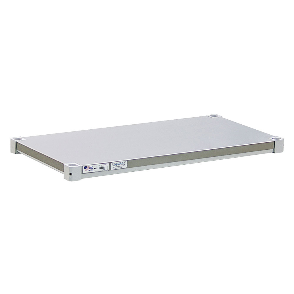 New Age 2030SB Aluminum Solid Shelf - 20x30""