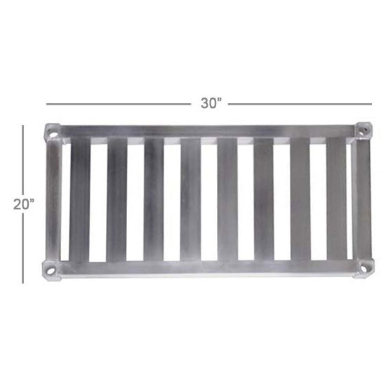 New Age 2030TB Aluminum T-Bar Shelf - 20x30""