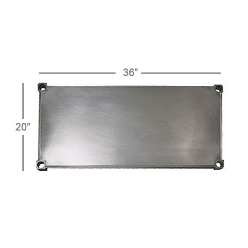 New Age 2036S Aluminum Solid Shelf - 20x36""
