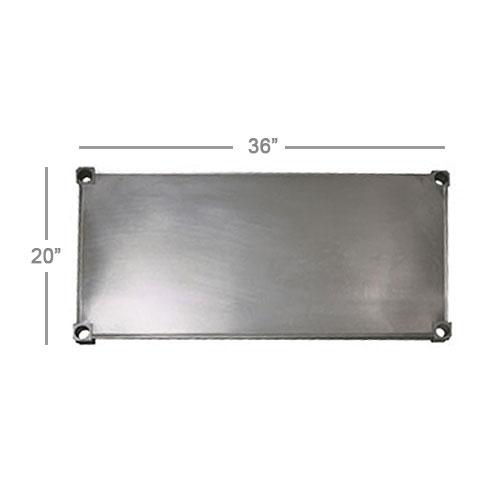 "New Age 2036S Aluminum Solid Shelf - 36x20"""