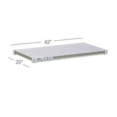 "New Age 2042SB Aluminum Solid Shelf - 20x42"""
