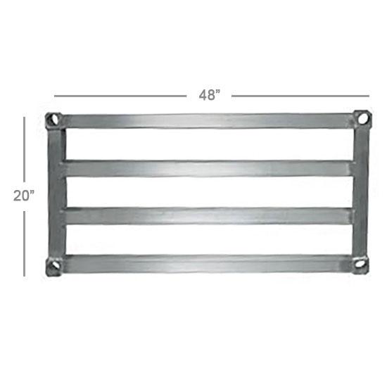 "New Age 2048HD Aluminum Tubular Shelf - 20x48"""