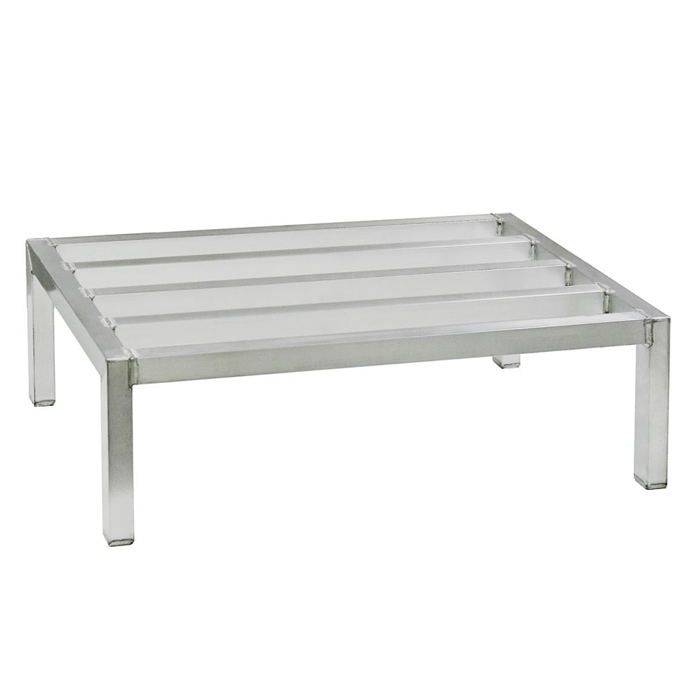 "New Age 2054 1-Tier Square Bar Dunnage Rack w/ 3000-lb Capacity, 12x20x42"", Welded Aluminum"