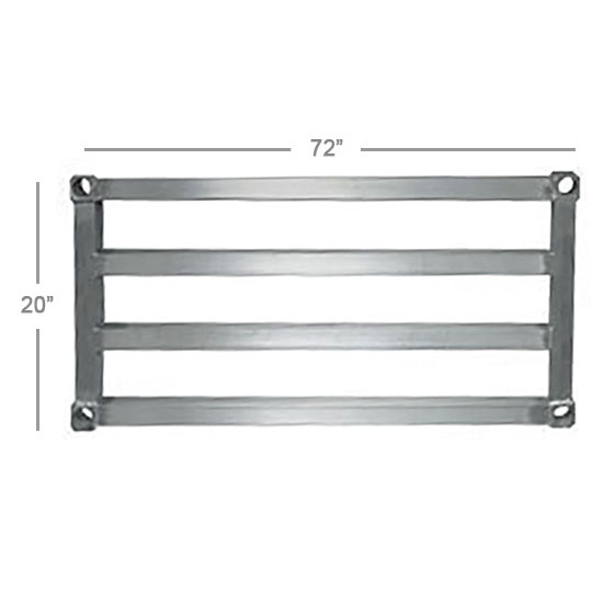 New Age 2072HD Aluminum Tubular Shelf - 20x72""