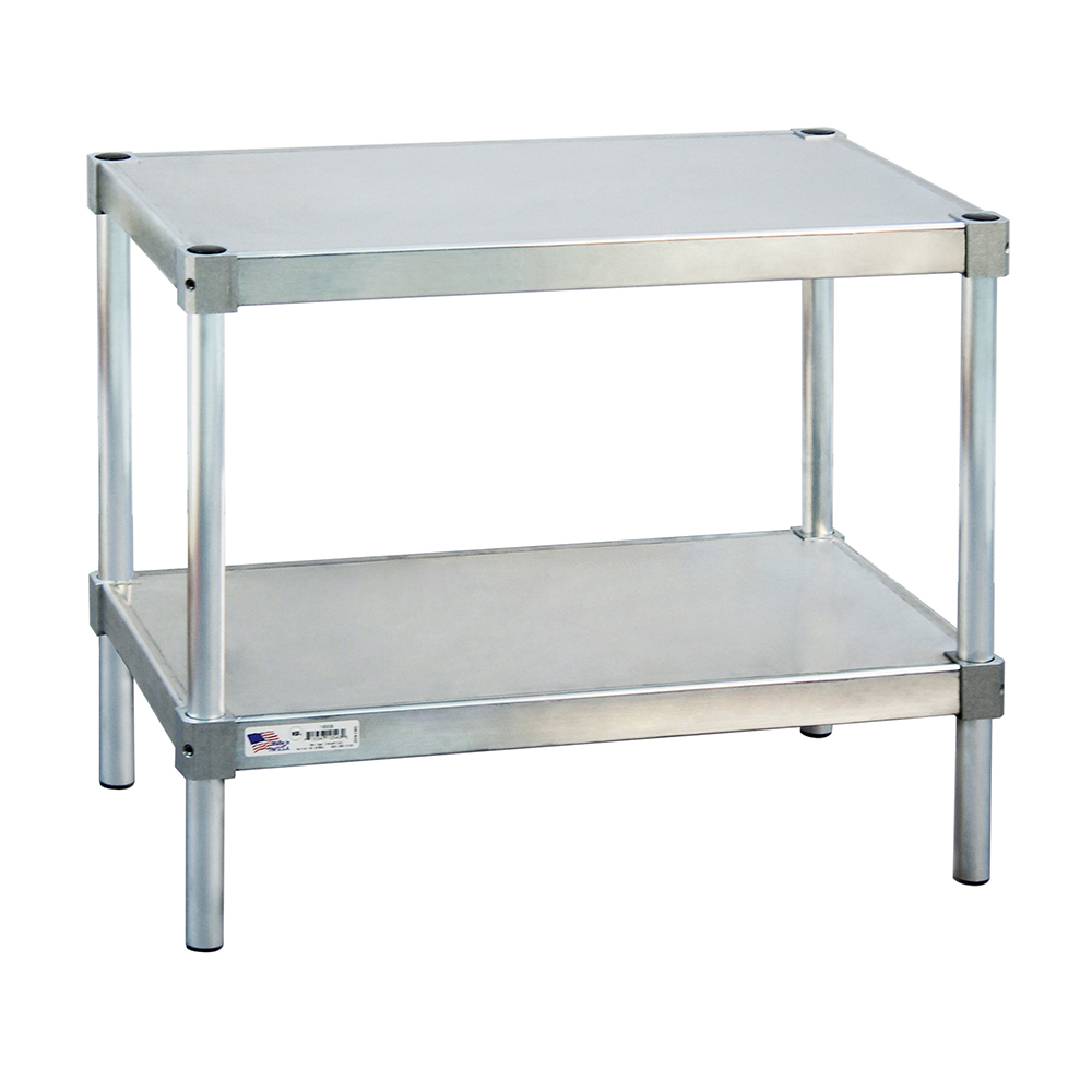 New Age 22030ES24P Stationary Equipment Stand w/ 400-lb Capacity & 2-Shelves, 24x30x20-in, Aluminum