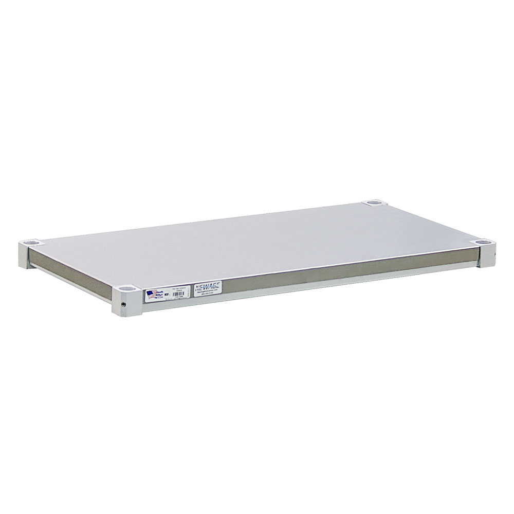 New Age 2472SB Aluminum Solid Shelf - 24x72""