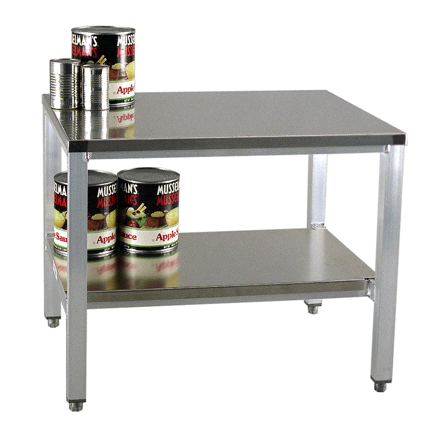 "New Age 24ESA29 24"" x 29"" Stationary Equipment Stand for General Use, Undershelf"