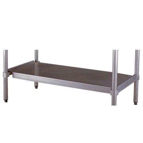 """New Age 24US84KD Undershelf for Work Table w/ Knock Down Frame, 84x24"""", Aluminum"""