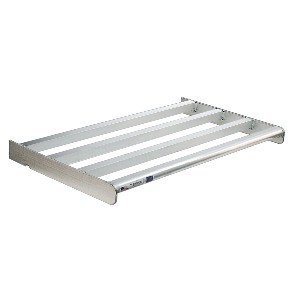 "New Age 2501 Heavy Duty Bar Style Cantilevered Shelf w/ 900-lb Capacity, 18x36"", Aluminum"