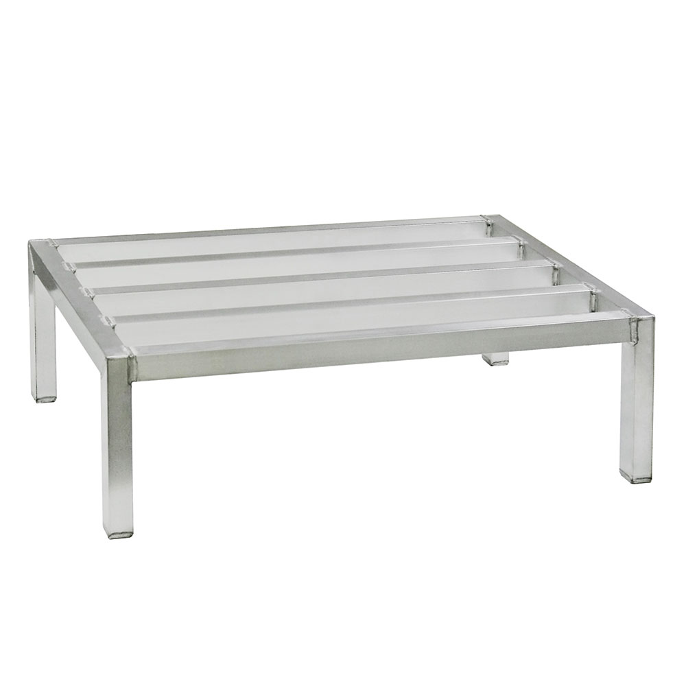"New Age 4027 48"" Stationary Dunnage Rack w/ 4000-lb Capacity, Aluminum"