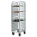 "New Age 4331 73"" Heavy Duty Bun Pan Rack w/ 20-Angle Runners & End Loading, Aluminum"