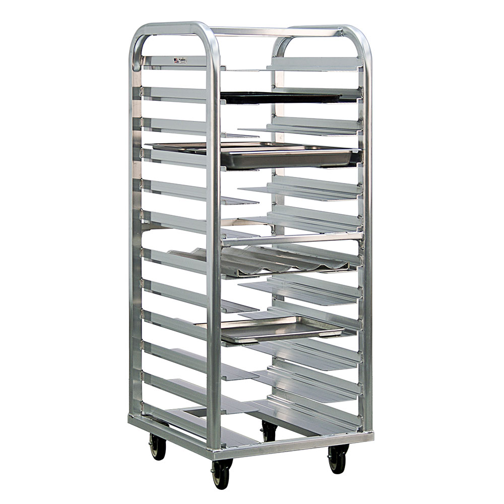 "New Age 4635 25""W 12-Bun Pan Rack w/ 4.5"" Bottom Load Slides"