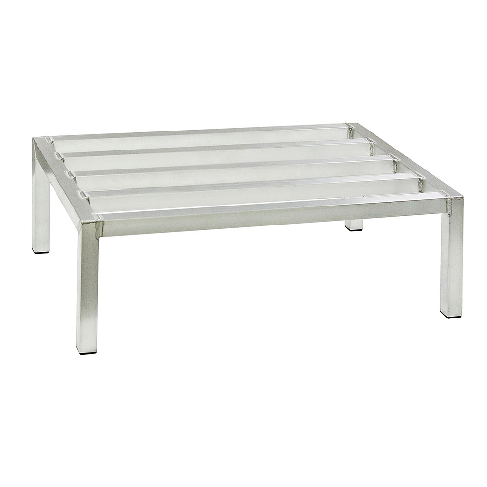 "New Age 6005 48"" Stationary Dunnage Rack w/ 2000-lb Capacity, Aluminum"