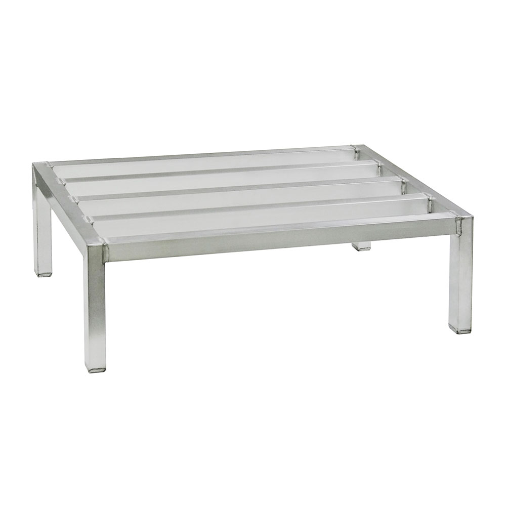 "New Age 6017 Dunnage Rack w/ 2000-lb Capacity & Plastic Inserts on Feet, 8x20x36"", Aluminum"