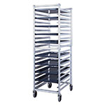 New Age 6301 Full Height Pan Rack, Open Sides, (20)18x26-in Pan Capacity End Loading Aluminum