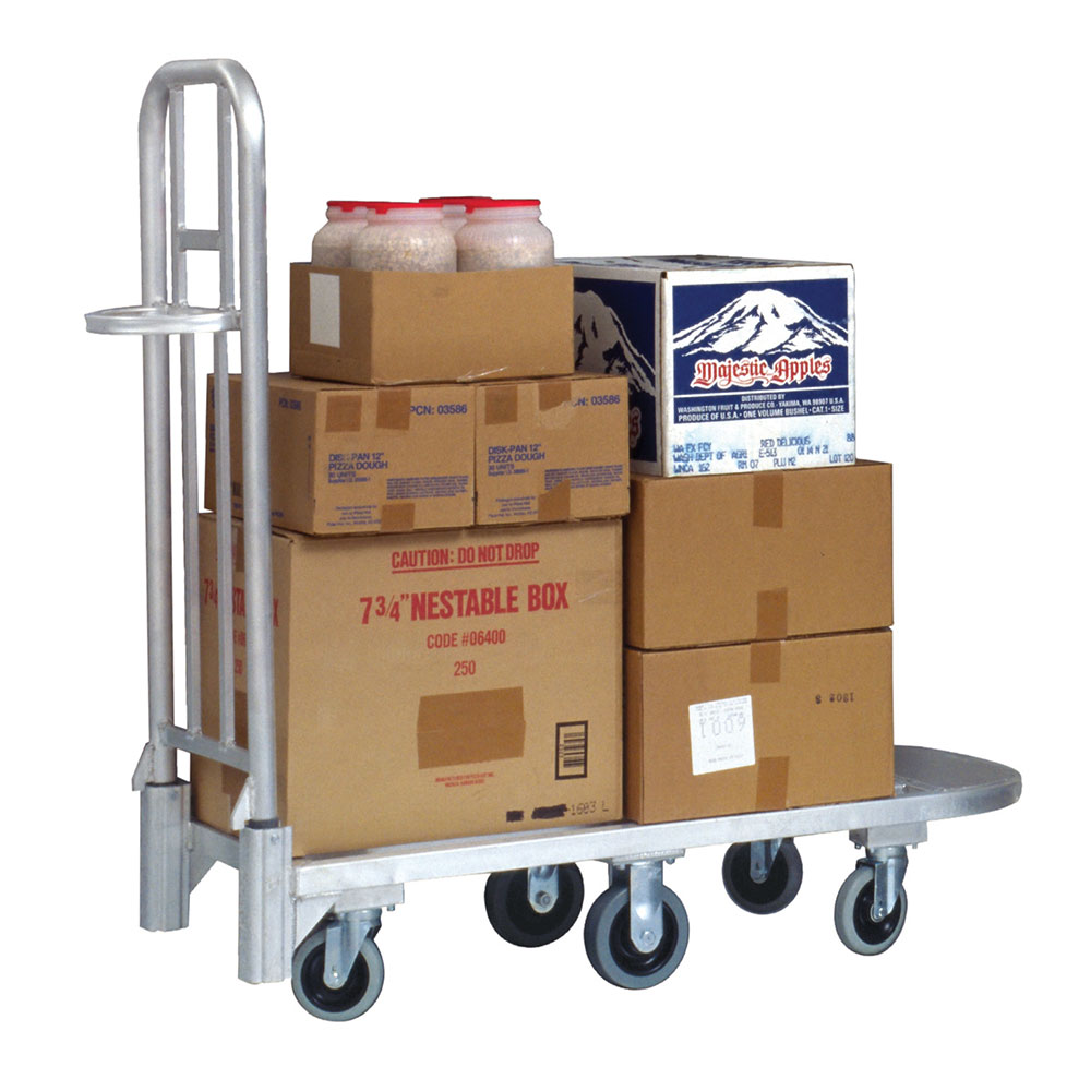 New Age 95370 Portable General Merchandising Cart w/ Push Handle & Lock, 20x52.37x55.25-in