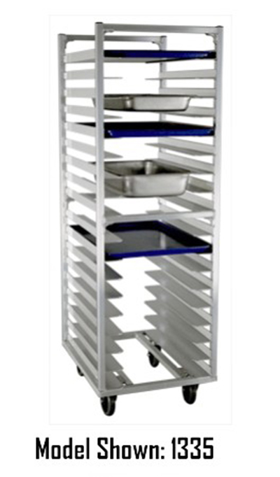New Age 95433 64-in Open Frame Roll In Refrigerator Rack w/ (36)18x26-in Pan Capacity Aluminum