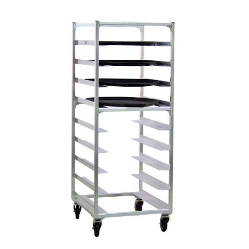 """New Age 95681 24.75""""W 9-Specialty Pan Rack w/ 6"""" Bottom Load Slides"""