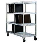 New Age 96706 3-Level Mobile Drying Rack for Trays