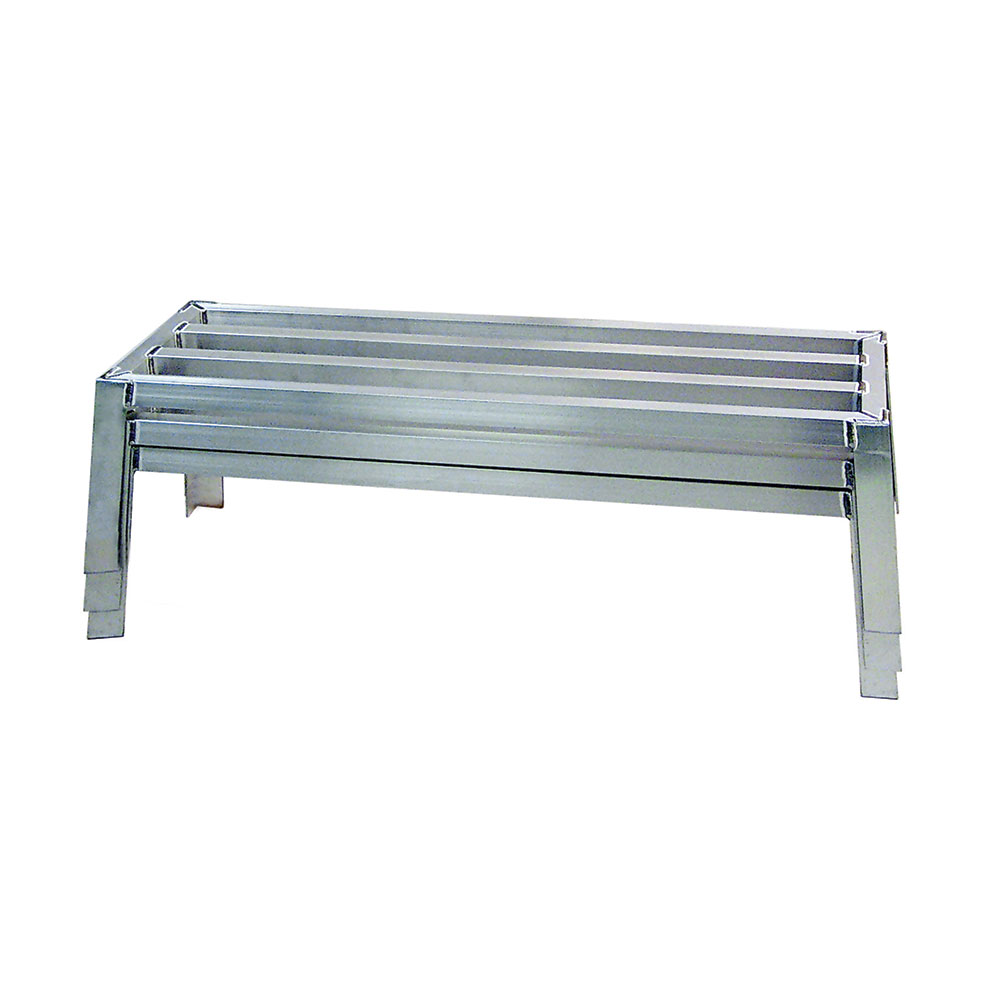 "New Age 97168 24"" Stationary Dunnage Rack w/ 3200-lb Capacity, Aluminum"