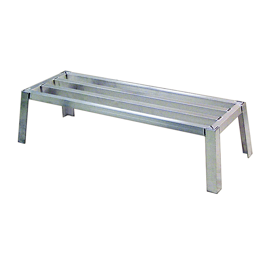 New Age 97173 1-Tier Square Bar Stacking Dunnage Rack w/ 2700-lb Capacity 12x20x48-in Aluminum