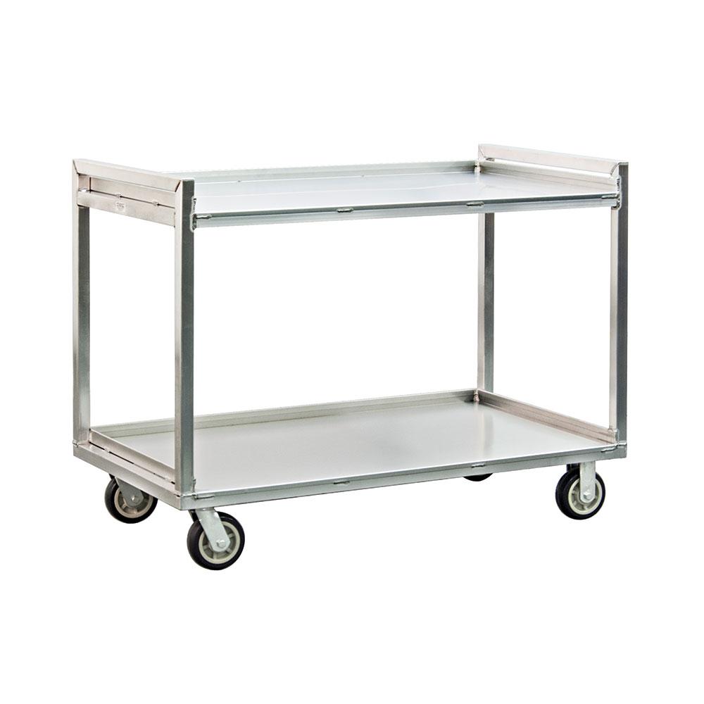 New Age 97177 2-Level Aluminum Utility Cart w/ 1500-lb Capacity, Raised Ledges
