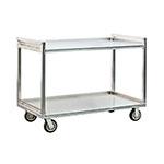 New Age 97179 2-Level Aluminum Utility Cart w/ 1500-lb Capacity, Raised Ledges