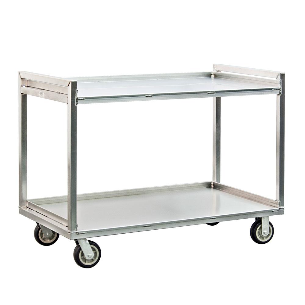 New Age 97180 2-Level Aluminum Utility Cart w/ 1500-lb Capacity, Raised Ledges