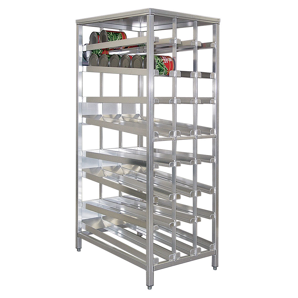"""New Age 97294 79.5""""H Stationary Can Rack w/ (156) #10 Capacity, Adjustable Feet"""