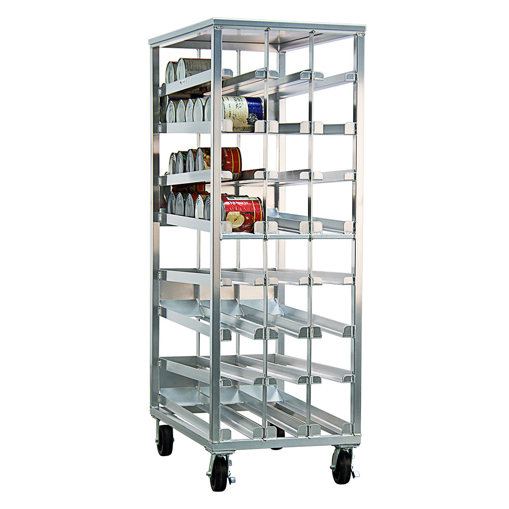 """New Age 97294CK 81.13""""H Mobile Can Rack w/ (156) #10 Capacity"""