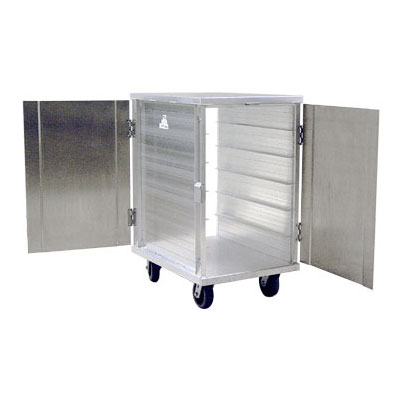 New Age 97655 Pass Thru Room Service Cart w/ Aluminum Reinforced Doors & 12-Tray Capacity