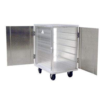 New Age 97655 12-Tray Cabinet Room Service Cart, Aluminum