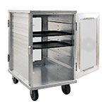 New Age 97655CD 12-Tray Cabinet Room Service Cart, Aluminum