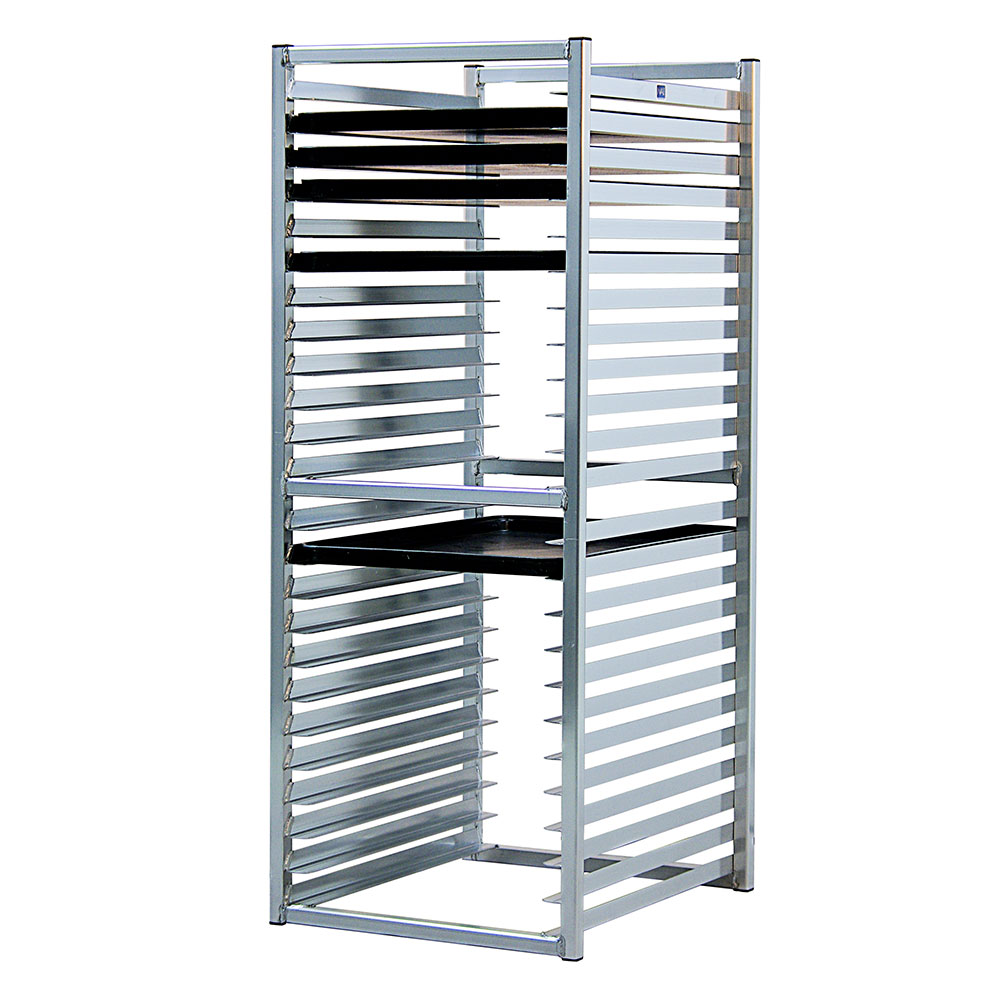 """New Age 97729 51"""" Insert Rack w/ Open Sides, (24)18x26"""" Pan Capacity, End Loading Aluminum"""