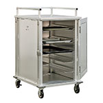 New Age 97830 12-Tray Cabinet Room Service Cart, Aluminum