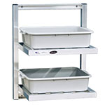 New Age 98213 2-Tier Universal Bus Tub Wall Shelf w/ T Bar Shelves 30x48x16-in 12-in Clearance