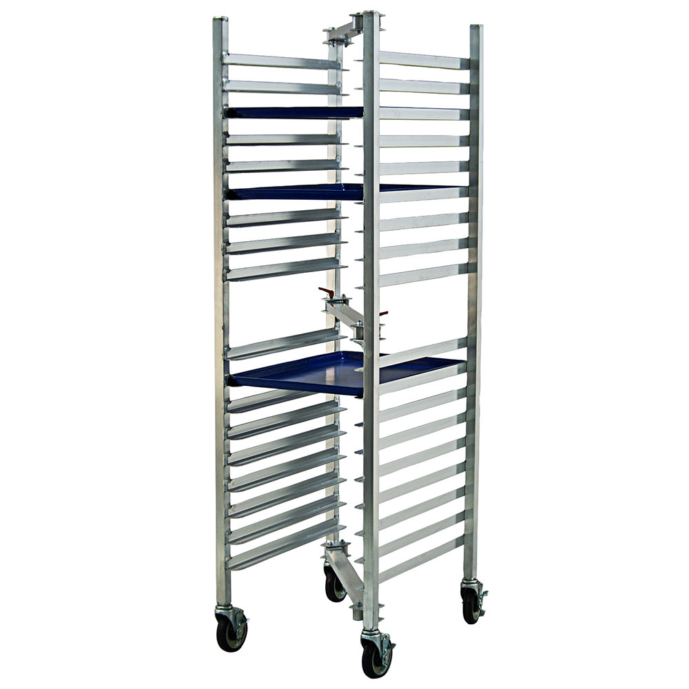 New Age 98678 30W 18-Bun Pan Rack w/ 3 Bottom Load Slides