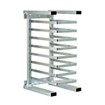 "New Age 99309 20.38""W 20-Pizza Pan Rack w/ 2.375"" Bottom Load Slides"