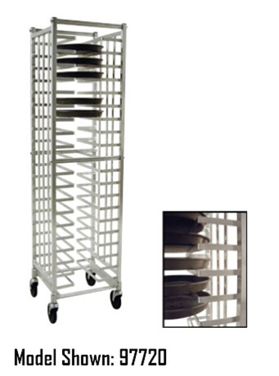 "New Age 99310 20.38""W 40-Pizza Pan Rack w/ 2.375"" Bottom Load Slides"