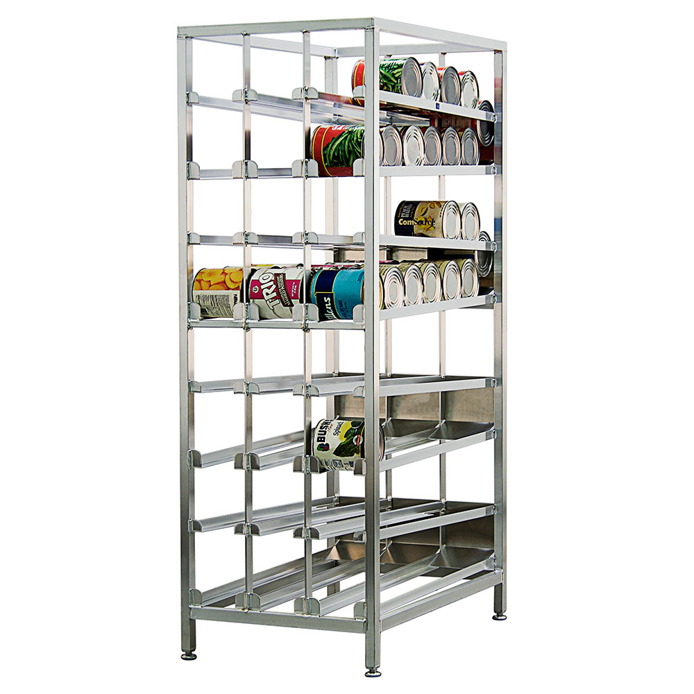 "New Age 99381 78.25""H Stationary Can Rack w/ (156) #10 Capacity, Adjustable Feet"