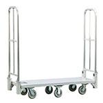 New Age BDT18566 1-Level Aluminum Utility Cart w/ 1200-lb Capacity, Flat Ledges