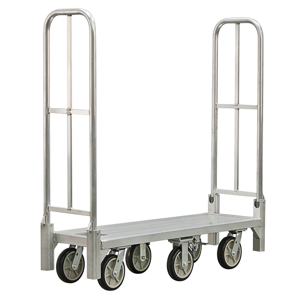 New Age BDT18568 1-Level Aluminum Utility Cart w/ 1200-lb Capacity, Flat Ledges