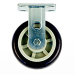 "New Age C518 Rigid Plate Caster w/ 6"" Diameter & 700-lb Capacity, Polyurethane Wheel Tread"