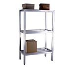 "New Age 1041 Welded Bar Style 3-Shelving Unit w/ Adjustable Feet, 48x20x36"", Aluminum"