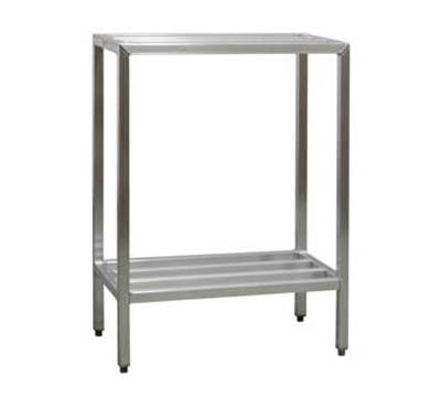 "New Age 1021 Welded Bar Style 2-Shelving Unit w/ Adjustable Feet, 48x20x36"", Aluminum"